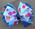 Denim Hairbows