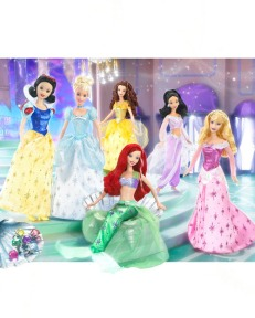 DISP7932 Disney Princess Barbie with Tiara