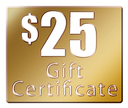 25 gift certificate