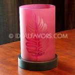 VSE09011-Etched-Leaf-Glass-Candle-Hurricane-with-Pillar-Candle