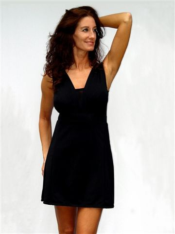 Solid Black SlimDress
